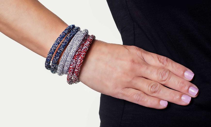 Crystal Energy Double Wrap Bracelet Made with Swarovski Elements
