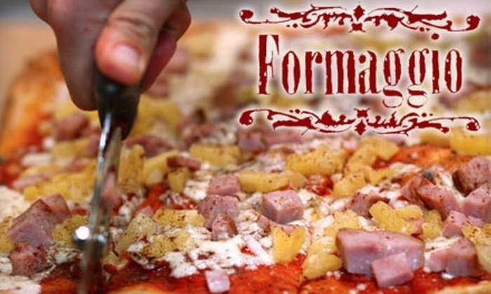 Formaggio Pizza - Multiple Locations: $5 for $10 of Pizza, Salads, Smoothies, and More at Formaggio Pizza. Choose From Two Locations.