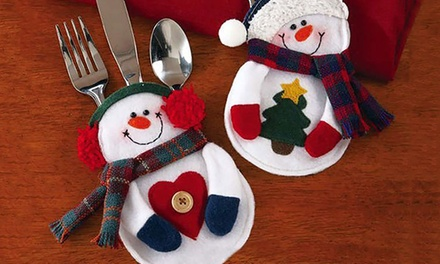 Up to 16 Snowman Cutlery Holders from £3.98