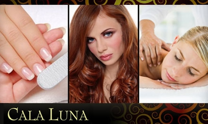Cala Luna Salon and Spa - Westerville: Manicure, Hair, or Massage Services at Cala Luna Salon and Spa. Choose from Three Options.