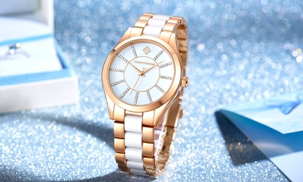 Damen-Armbanduhr Timothy Stone verziert mit Kristallen von Swarovski® in der Farbe nach Wahl inkl. Versand  (Duesseldorf)