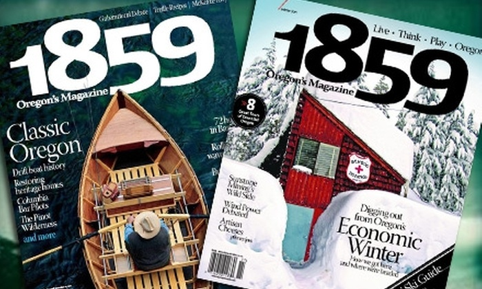 "1859 Oregon's Magazine - Pearl: $14 for a Two-Year Subscription to ""1859 Oregon's Magazine"" ($29.95 Value)"