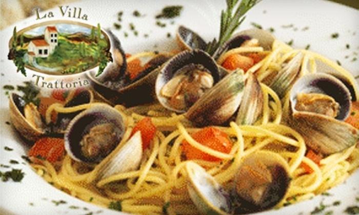La Villa Trattoria - Westport: $25 for $50 Worth of Fine Italian Cuisine at La Villa Trattoria in Westport