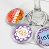 Personalized Wineglass Charm from Monogram Online