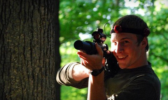 Crash Combat Games and Adventure Sports - Broadview Heights: $85 for an Outdoor Laser-Tag Adventure for Up to 14 from Crash Combat Games and Adventure Sports ($200 Value)