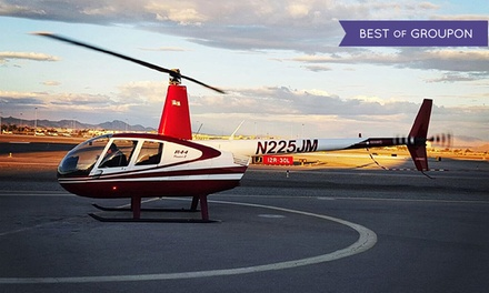 Helicopter Tour of the Strip or Red Rock Canyon for 1 or 3 People from Airwork Helicopters (Up to 70% Off)