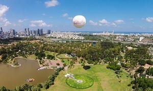 כדור פורח תל אבי-TLV Balloon: לרחף מעל תל אביב: חוויה עוצרת נשימה בכדור פורח בלב ליבה של תל אביב, כרטיס החל מ-34 ₪ לילד או 56 ₪ בלבד למבוגר