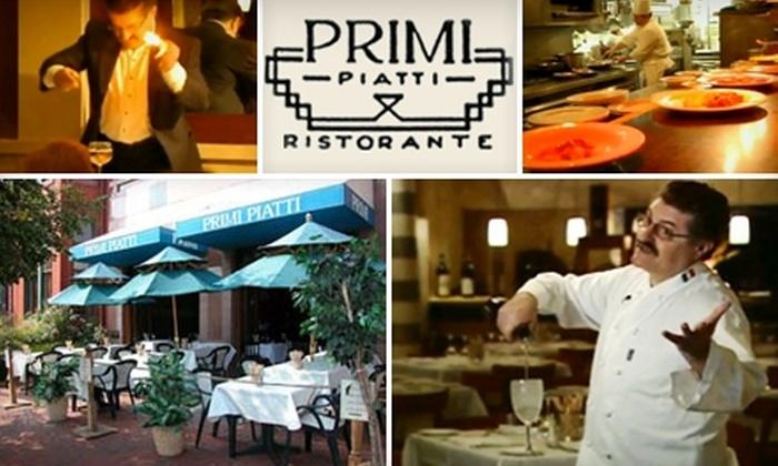 Primi Piatti - Dupont Circle: $40 for Two Tickets to Savino Recine's Magic Show, and $20 Toward Dinner at Primi Piatti ($80 Value)