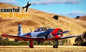 Coastal Thrill Flights: 20-MinuteAdventure($349)orAerobaticThrillFlight($399) withCoastalThrillFlights(Upto$449Value)
