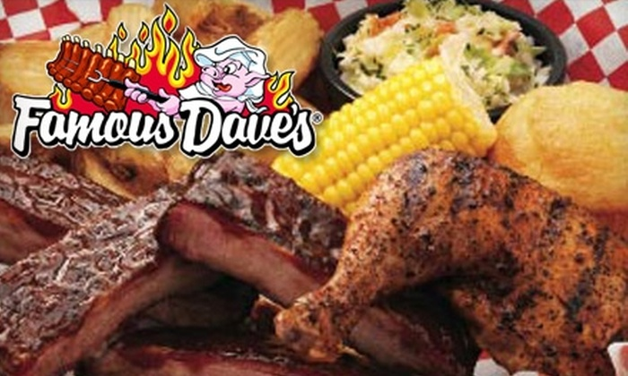 Famous Dave's BBQ - Northeast Pensacola: $10 for $20 for Lunch or $15 for $30 for Dinner at Famous Dave's BBQ