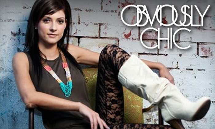 Obviously Chic Boutique - Regina: $25 for $50 Worth of Eclectic Apparel and Accessories at Obviously Chic Boutique