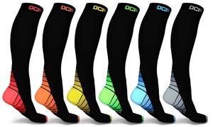 DCF Unisex Sports Compression Socks (6-Pack)