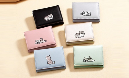 Compact CatThemed Wallet