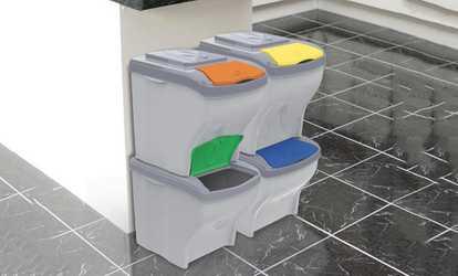 Organizzazione spazi offerte promozioni e sconti - Mobile raccolta differenziata 4 secchi ...