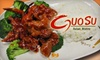 Half Off Fare and Drinks at GuoSu in Clearfield