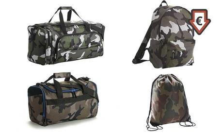 Bolsas de deporte y mochilas Marnaula con diseño camuflaje
