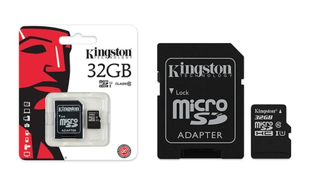 Kingston Class 10 Micro SD Card with Adapter: 16GB $12.95, 32GB $22.95 or 64GB $34.95