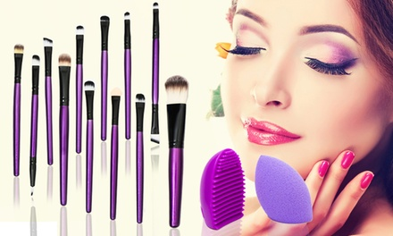 One or Two 14Piece MakeUp Brush Sets
