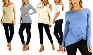 Women's Knitted Top. Multiple Styles Available.
