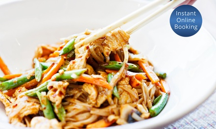TwoCourse Thai Meal + Drinks for Two $35 or Four People $69 at 3 Mama Chef's Up to $114 Value