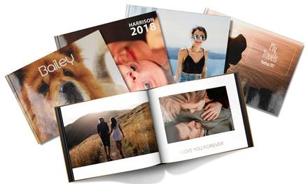 Livre photo A5 ou A4 avec couverture rigide de 20, 40, 60 ou 100 pages avec Printerpix