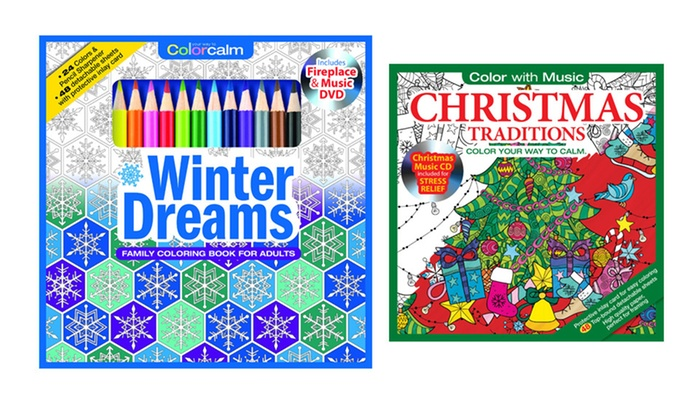 Christmas Traditions And Winter Dreams Adult Coloring Books