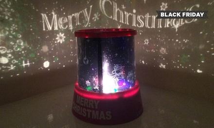 Proyector cambia color de Feliz Navidad por 6,90 € (75% de descuento)