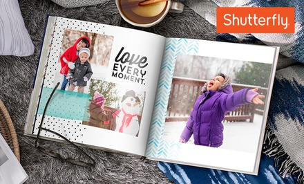 One 8x8 Shutterfly Hard Cover 20-Page Photo Book (Up to 84% Off). Four Options Available.