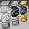August Steiner Men's Swiss Chronograph Bracelet Watch