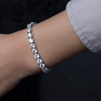 Deals on Lesa Michele 42.00 CTTW Tennis Bracelet