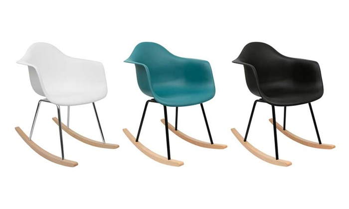 chaise rocking chair esprit scandinave coloris au choix groupon shopping. Black Bedroom Furniture Sets. Home Design Ideas