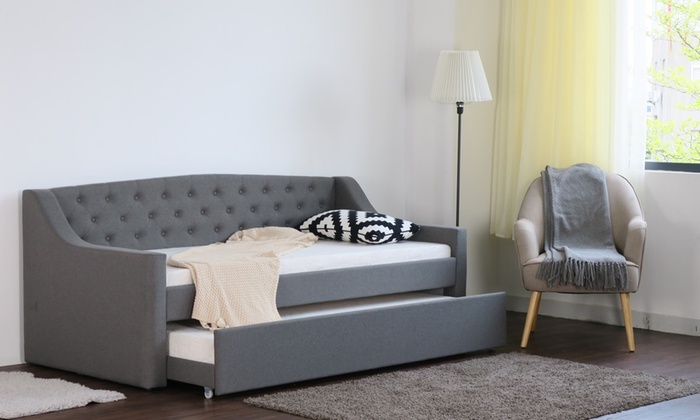 Carley Fabric Daybed with Optional Two Mattresses