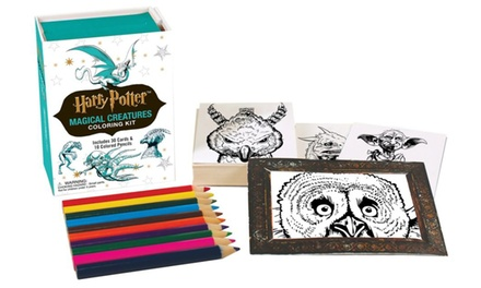 Harry Potter Magical Creatures Coloring Kit (42-Piece)