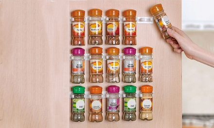 One ($9), Two ($16) or Three ($19) 20-Piece Space Saving Sticky Clip-In Spice Rack Sets