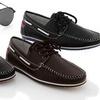 Franco Vanucci Men's Boat Shoes Plus Free Pair of Sunglasses