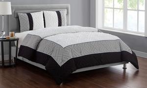 Hotel Embossed Comforter Set (2-, or 3-Piece)