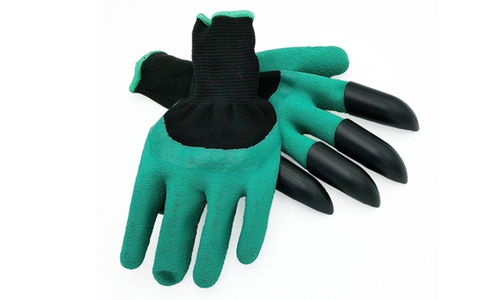 Garden genie gardening gloves groupon for Gardening 4 less groupon