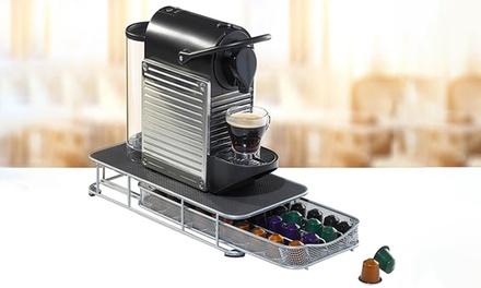 Stand o cassetto porta cialde da caffè in metallo disponibili in vari modelli
