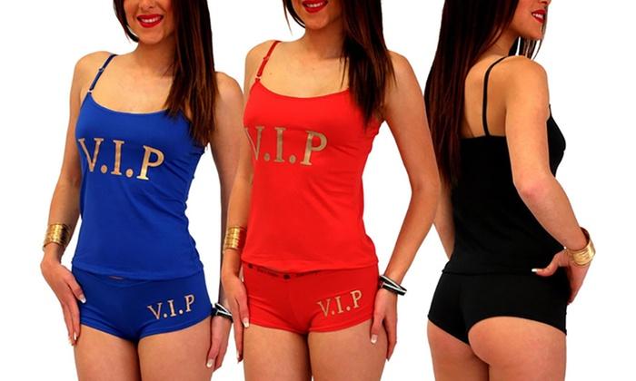Ensemble caraco avec boxer modèle Sexy Vip taille S/M et L/XL coloris au choix à 990€ (72% de rduction)