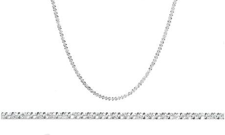 Italian Diamond Cut Roc Chain in Sterling Silver by Elements of Love