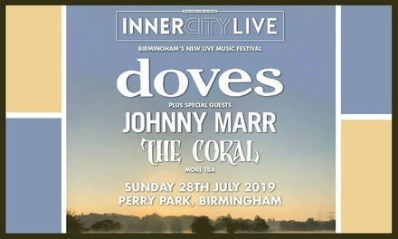Inner City Live 2019 Featuring Doves, Johnny Marr and The Coral, 28 July at Perry Park
