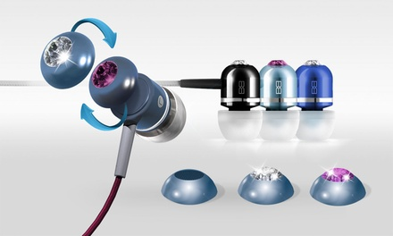 In-Ear Headphones with Swarovski Crystals from BassBuds (81% Off)