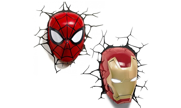 Marvel 3d superhero wall light groupon goods marvel 3d superhero wall light mozeypictures Gallery