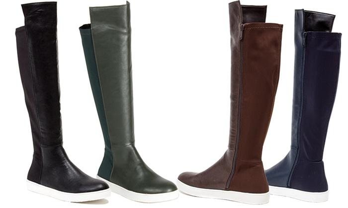 French Blu Clarissa Women's Knee-High Sneaker Boot