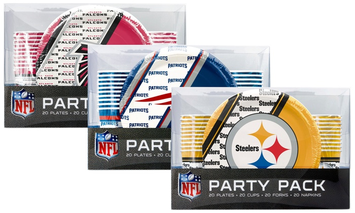 NFL Party Pack 20-Person Place Setting Set