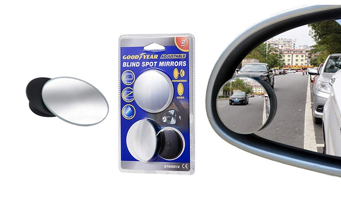One or Two Goodyear Blind Spot Mirror Pairs