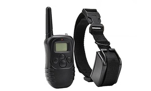 Remote Static and Vibration Dog Training Collar with Remote