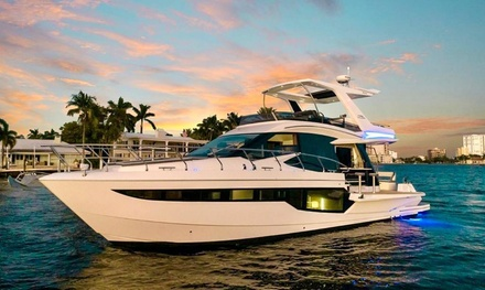 4-Hour Yacht Trip w/ Captain on Galeon Fly 550 or 80' Ferretti for Up to 13 at Everywhere Miami (Up to 40% Off)