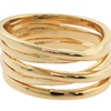 Twister Ring in 14K Yellow Gold Plated Brass (Size 6)