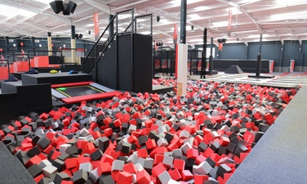 One-, Two- or Three-Hour Trampoline Jumping Session for Up to Four at Jump Evolution (Up to 36% Off)